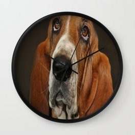 Lost In Thought Basset Hound Dog Wall Clock