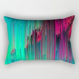 Just Chillin' - Abstract Neon Glitch Pixel Art Rectangular Pillow