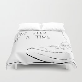 one step at a time Duvet Cover
