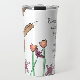 floral poetry Travel Mug