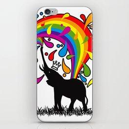Elephant_Bathing iPhone Skin