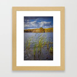 Hall Lake in Autumn Framed Art Print