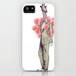 Androgynous Giraffe iPhone Case