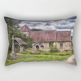 East Chiltington Church Rectangular Pillow