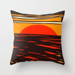 Sol del Desierto Throw Pillow
