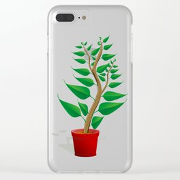 Plant Growth Clear iPhone Case