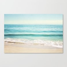 Ocean Seascape Photography, Aqua Beach Sea Landscape Canvas Print