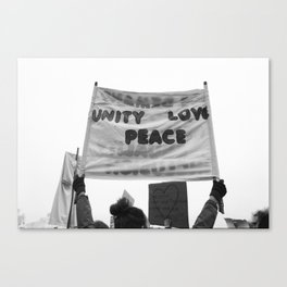 unity, love, peace Canvas Print