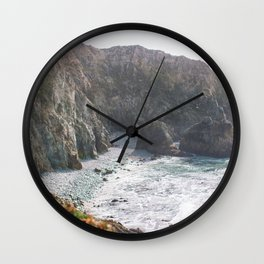 Seafoam Cliffs Wall Clock