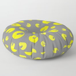 Yellow dotted pattern Floor Pillow