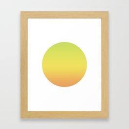 Banana Round Framed Art Print