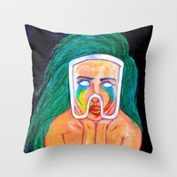 artpop Throw Pillows featuring ARTPOP by KALEEMXWILL ART