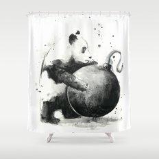 Panda Boom Shower Curtain