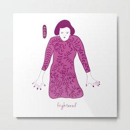 Cheongsam illustration frightened Metal Print