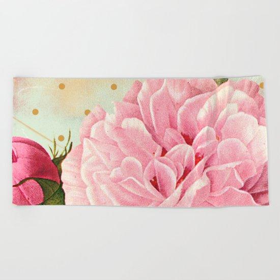 Vintage Flower #7 Beach Towel