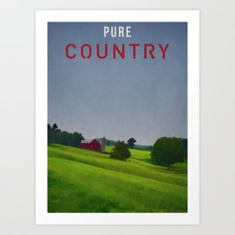 Pure Country Red Barn Art Poster Art Print