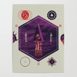 It fell from the stars, It rose from the sea Poster