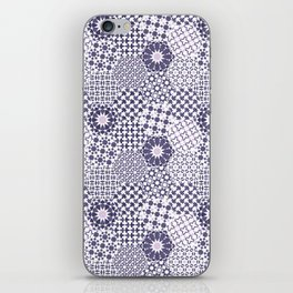 Spanish Tiles of the Alhambra - Violets iPhone Skin