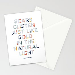 Scars and Gold Stationery Cards