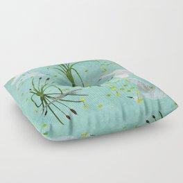 little egrets Floor Pillow