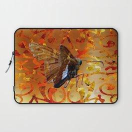 Silver Spotted Skipper Butterfly  Laptop Sleeve