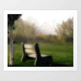 Waiting for The Fog to Lift Art Print