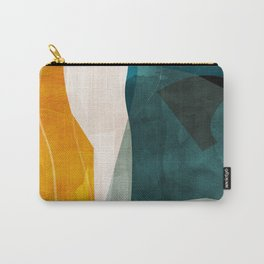 mid century shapes abstract painting 3 Carry-All Pouch