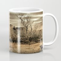 cityscape Mugs featuring Cityscape by The Strange Days Of Gothicrow