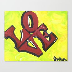 Neon LOVE Canvas Print