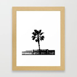 Black & White Palm Framed Art Print