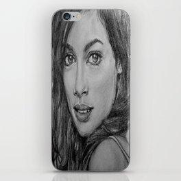 Rosario Dawson Portrait  iPhone Skin