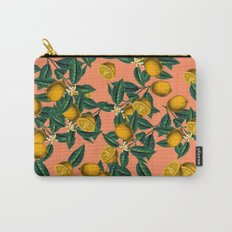 Lemon and Leaf Carry-All Pouch