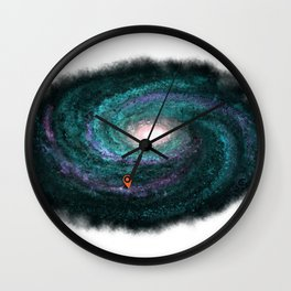 We are here turquoise Wall Clock