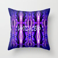 wicked Throw Pillows featuring Wicked by Chris' Landscape Images & Designs