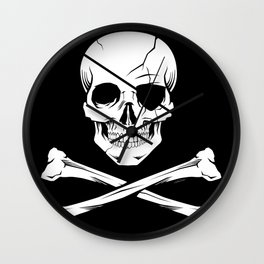 Pirate Flag Wall Clock