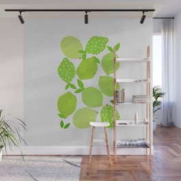 Lime Crowd Wall Mural