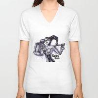 harley quinn V-neck T-shirts featuring Harley Quinn by VivianLohArts