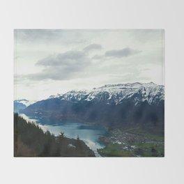 Mountains, Trees, Lakes Throw Blanket