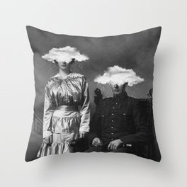 Stormy Couple Throw Pillow