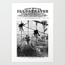 New York, Brookly Bridge 1883 Art Print