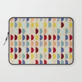 Semi circles multicolor geometric interior design Laptop Sleeve