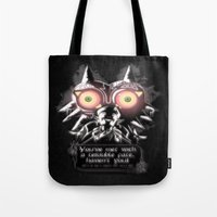 majora Tote Bags featuring Majora Mask by Janismarika