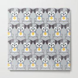 Super cute animals - Cute Grey Silver Puppy Dog Metal Print