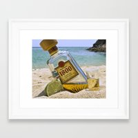 tequila Framed Art Prints featuring Tequila! by Brocoli ArtPrint
