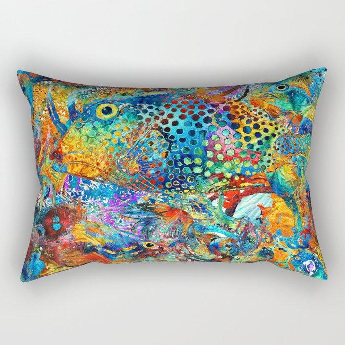 Tropical Beach Art - Under The Sea - Sharon Cummings Rectangular Pillow