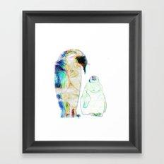 Remix Emperor Penguins Framed Art Print