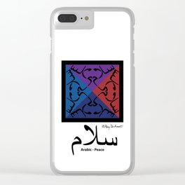 Arabic Peace - with English Clear iPhone Case