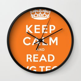 Keep calm and read HVG.tech Wall Clock