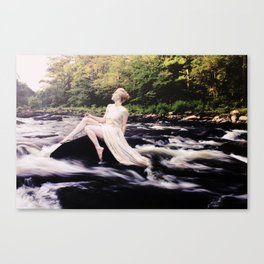 To Be One With the River Canvas Print