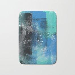 Abstract Blue Azur Bath Mat